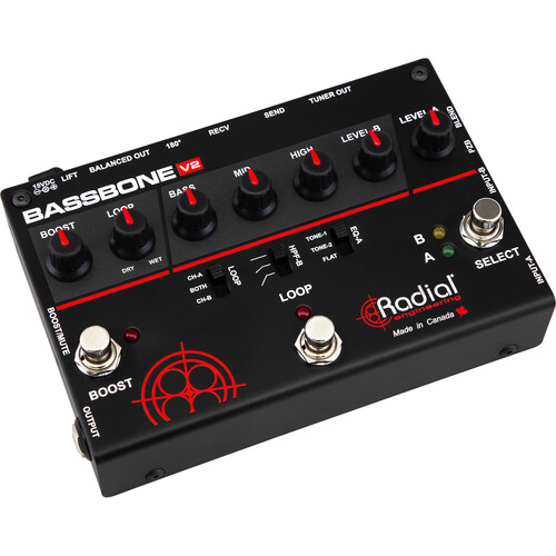 Radial Engineering Bassbone OD 2-Channel Bass Preamp
