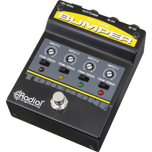Radial Engineering ToneBone Series Bumper Instrument-Selector Pedal for Electric Guitars & Basses
