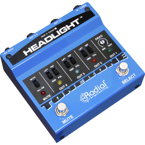 Radial Engineering Amp Selector with Up to 4 Outputs