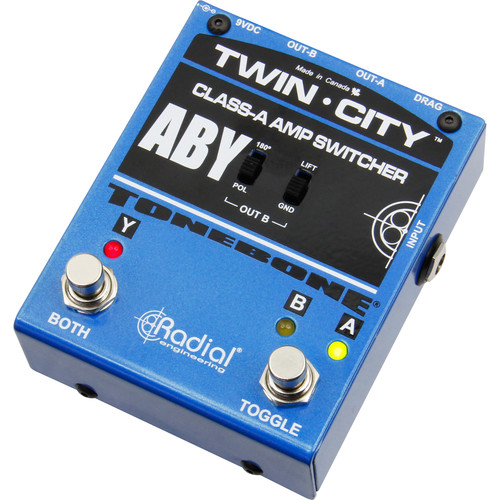 Radial Engineering Twin-City ABY Amp Switcher for Electric Guitarists