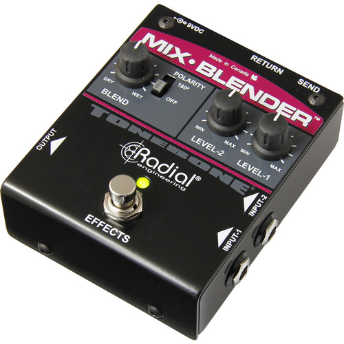 Radial Engineering Mix-Blender Dual Input Guitar Mixer with Insert Loop