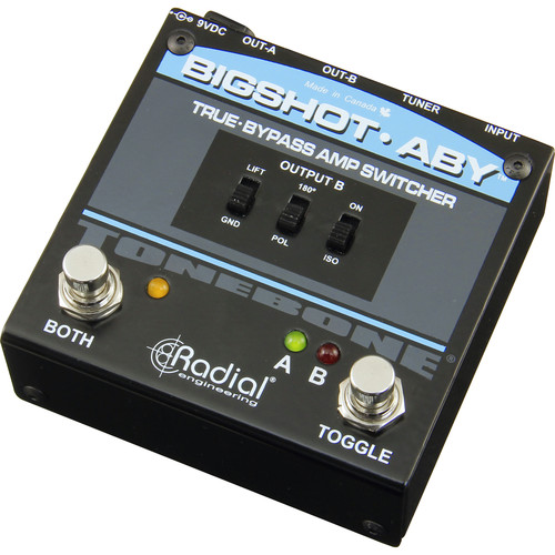 Radial Engineering BigShot ABY True-Bypass Amplifier Switcher with Tuner Out and LED Lights