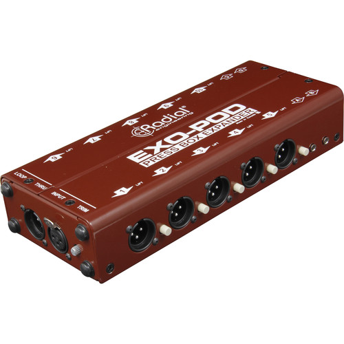 Radial Engineering Exo-Pod Broadcast Splitter with XLR & 3.5mm Connections