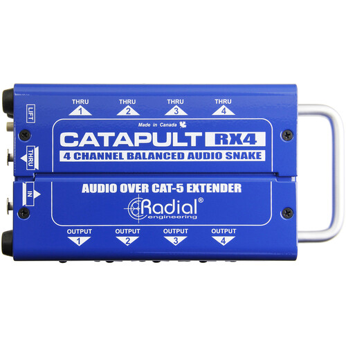 Radial Engineering Catapult RX4 4-Channel Receiver with Balanced Outs/Cat5