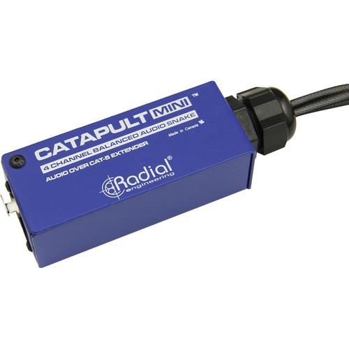 Radial Engineering Catapult MINI TX 4-Channel Shielded Cat 5 Mini Breakout Box to XLR-F Tails