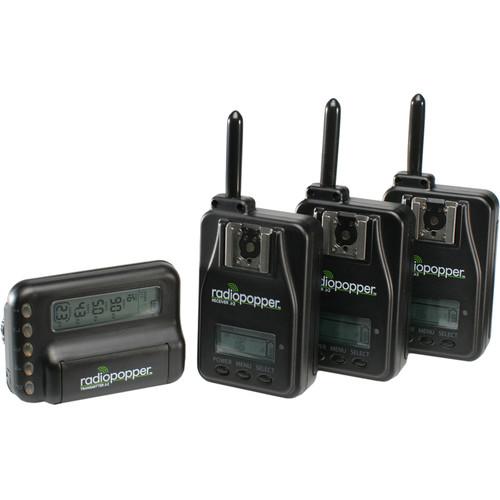 RadioPopper Jr2 Studio Kit for Nikon with 3 Receivers