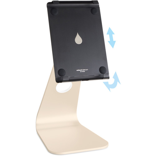 """Rain Design mStand Tablet Pro for 9.7 to 11"""" iPad, iPad Pro, and iPad Air (Gold)"""