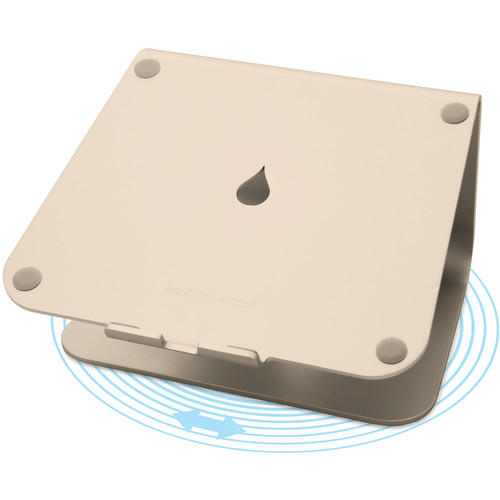 Rain Design mStand360 Laptop Stand with Swivel Base (Gold)