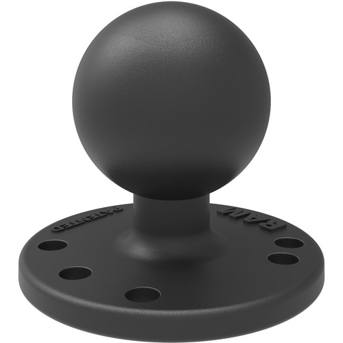 """RAM MOUNTS 2.5"""" Round Base with AMPS Hole Pattern and 1.5"""" Ball"""