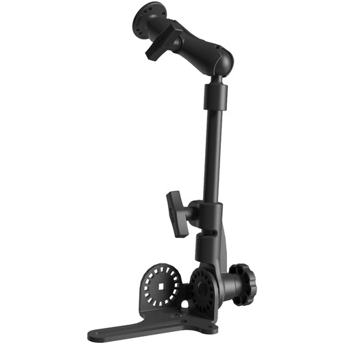 "RAM MOUNTS Universal No-Drill RAM POD HD Vehicle Mount with Double Socket Arm & 2.5"" Round Base AMPs Hole Pattern"