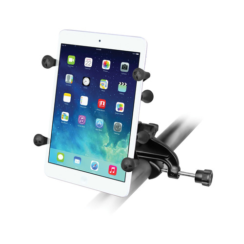 """RAM MOUNTS Yoke Clamp Mount with Universal X-Grip II Holder for 7"""" Tablets"""
