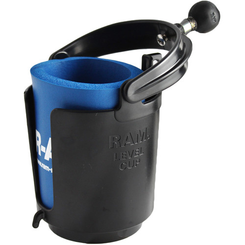 RAM MOUNTS Self-Leveling Cup Holder with Koozie
