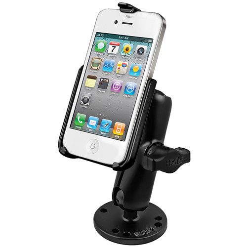 RAM MOUNTS RAM-B-138-AP9U RAM Flat Surface Mount for the Apple iPhone 4 and iPhone 4S