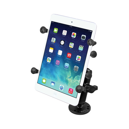 "RAM MOUNTS Flat Surface Mount with Universal X-Grip II Holder for 7"" Tablets"