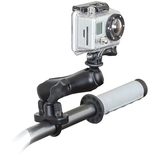 "RAM MOUNTS Handlebar Rail Mount with U-Bolt & 1"" Ball with GoPro Hero Adapter"