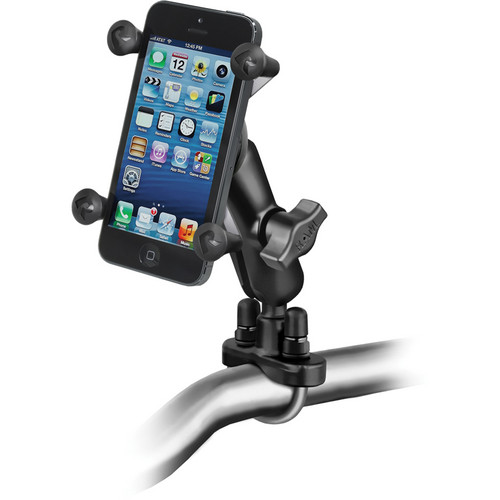 RAM MOUNTS Handlebar Rail Mount with Universal X-Grip Cell Phone Holder