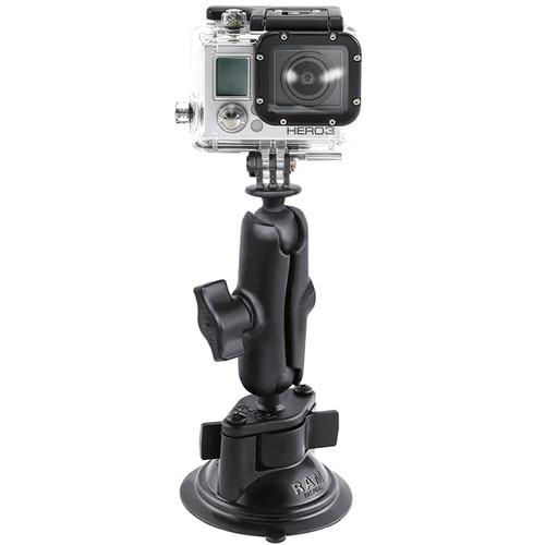 RAM MOUNTS Twist Lock Suction Cup Mount with Custom GoPro Hero Adapter