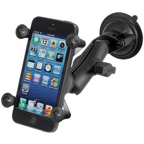 RAM MOUNTS RAM Twist-Lock Suction Cup Mount with Universal X-Grip Cell Phone Holder