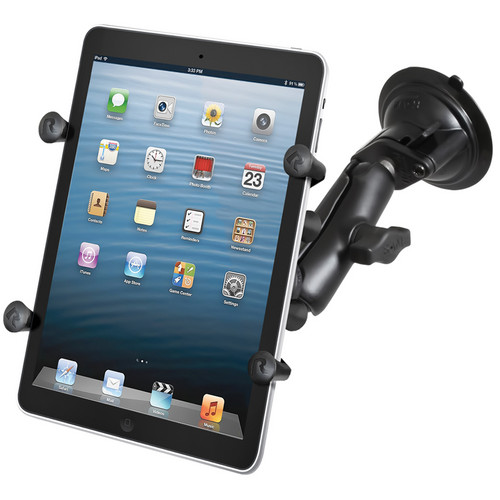 """RAM MOUNTS Twist Lock Suction Cup Mount with Universal X-Grip Cradle for 7"""" Tablets"""