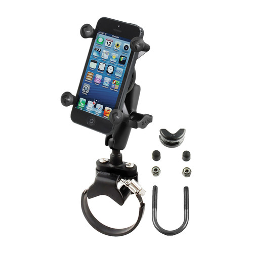 RAM MOUNTS Strap Clamp, Roll Bar Mount with Universal X-Grip Cell/iPhone Holder
