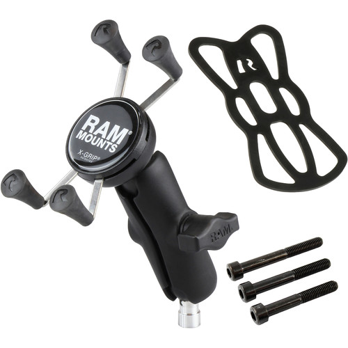 RAM MOUNTS M8 Motorcycle Base with X-Grip for Standard Cell Phone