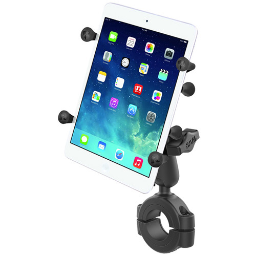 """RAM MOUNTS Torque Handlebar & Rail Mounting Base Kit with 1"""" Ball, Standard Arm, & X-Grip Cradle for 7 - 8"""" Tablet (For 1.125 - 1.5"""" Rails)"""