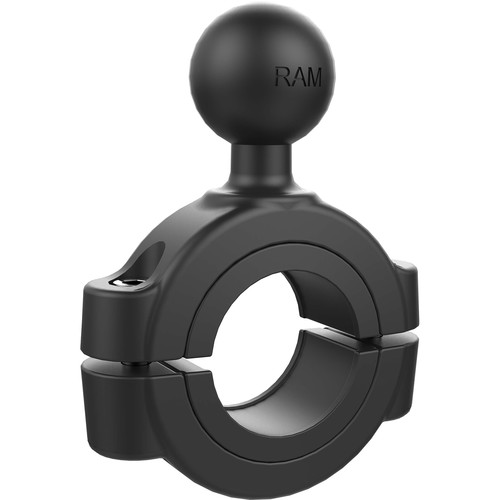 "RAM MOUNTS Torque Handlebar/Rail Mounting Base with 1"" Ball for 1.125 to 1.5"" Bars (Polybag Packaging)"