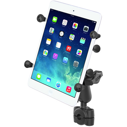 "RAM MOUNTS Torque Mini Rail Base Kit with 1"" Ball, Standard Arm, & X-Grip Cradle for 7 - 8"" Tablet (For Rails 3/8 - 5/8"" )"