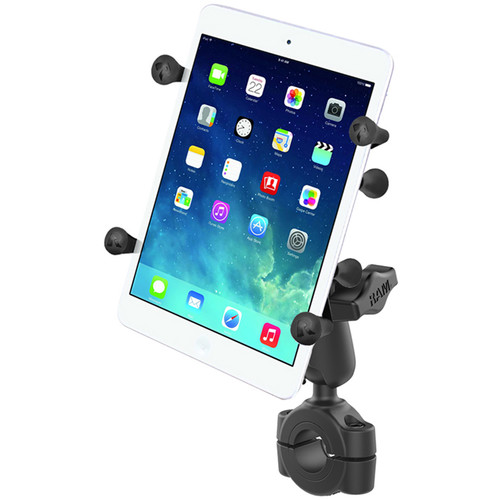 "RAM MOUNTS Torque Handlebar & Rail Mounting Base Kit with 1"" Ball, Standard Arm, & X-Grip Cradle for 7 - 8"" Tablet (For 3/4 - 1"" Rails)"