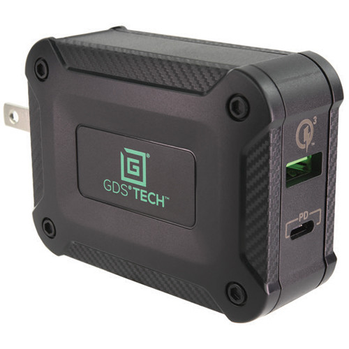 RAM MOUNTS GDS 48W 2-Port USB Type-C and Type-A Wall Charger