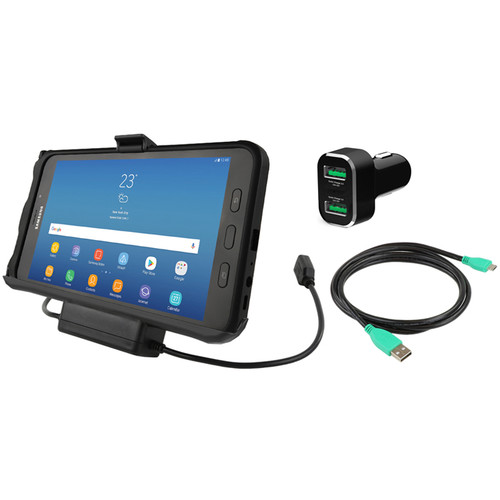 RAM MOUNTS EZ-Roll'r Power & Data Cradle for Samsung Tab Active2 with Charger