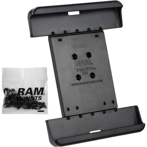 """RAM MOUNTS Tab-Tite Cradle for Select 10"""" Tablets Including the Samsung Galaxy Tab 4 10.1"""" and Tab S 10.5"""" Protected by an Otter Box Defender Case"""