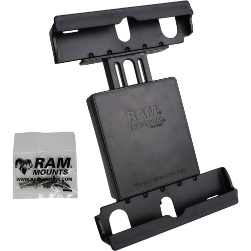 RAM MOUNTS Tab-Lock Locking Cradle for Apple iPads Air 1 or 2 & Samsung Galaxy A 9.7 Tablet with Case, Skin, or Sleeve
