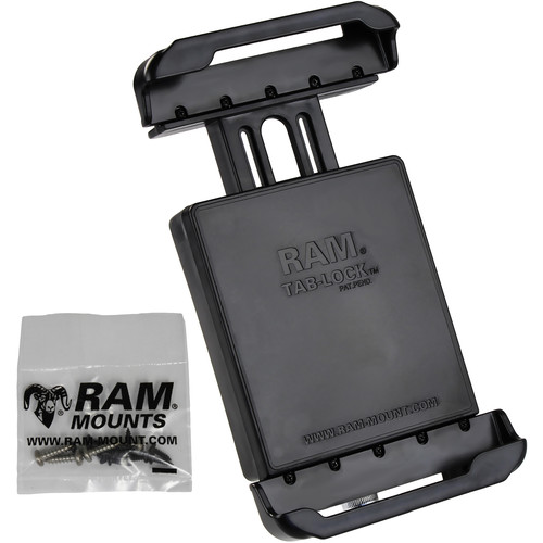 "RAM MOUNTS Tab-Lock Locking Cradle for Samsung Galaxy Tab 4 8.0"" & Tab S 8.4"" Protected by an OtterBox Defender Case"