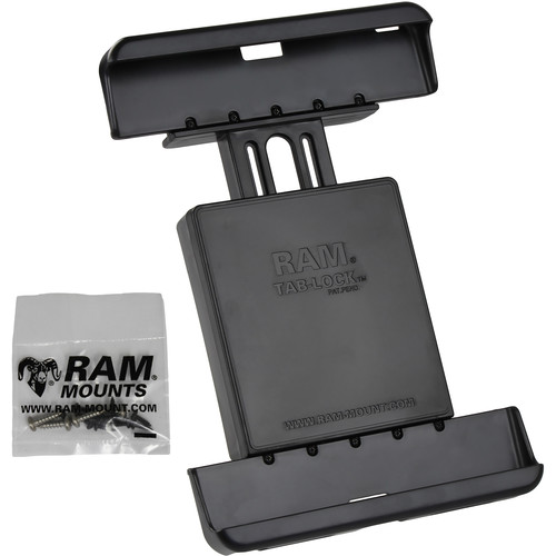 "RAM MOUNTS Tab-Lock Locking Cradle for Samsung Galaxy Tab 4 10.1 & Tab S 10.5"" Protected by an OtterBox Defender Case"