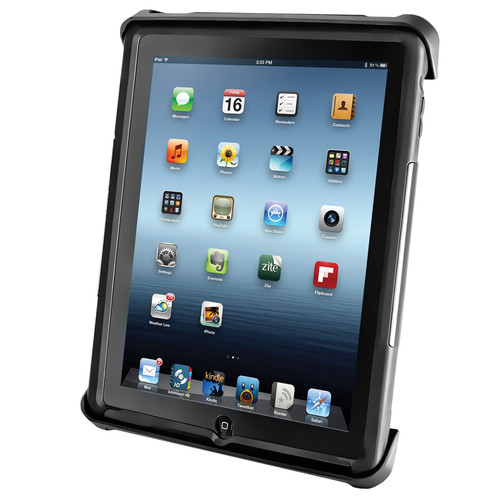 RAM MOUNTS Tab-Lock Locking Cradle for Apple iPads 1, 2, 3, or 4 & HP TouchPad with or without a Protective Case