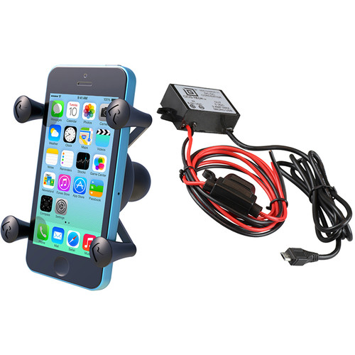 RAM MOUNTS Universal X-Grip Cradle with Micro-B USB Step Down Converter/Charger