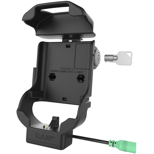 RAM MOUNTS Keyed-Locking Form-Fit Powered Cradle for Zebra TC70,72, 75 & 77