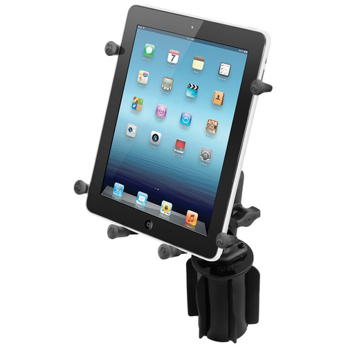 RAM MOUNTS RAM-A-CAN II Cup Holder Mount / Double Socket Arm & X-Grip III Holder
