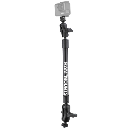 """RAM MOUNTS 12"""" Long Arm Track Mount with Gopro"""
