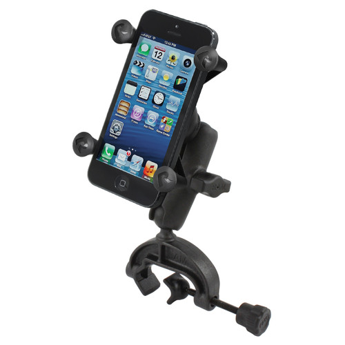 RAM MOUNTS Clamp Mount with Universal X-Grip Smartphone Holder