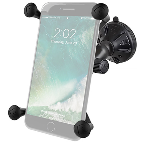 RAM MOUNTS Composite Twist Lock Suction Cup Mount with Universal X-Grip Large Phone Holder