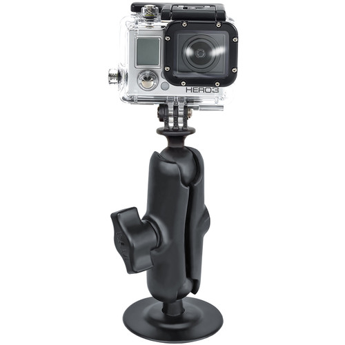 RAM MOUNTS Flex Adhesive Mount with Double Socket Arm & Custom GoPro Hero Adapter