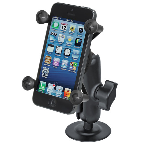 RAM MOUNTS Flex Adhesive Mount with Universal X-Grip Cellphone Holder