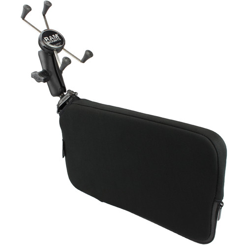 """RAM MOUNTS Tough-Wedge Seat Wedge Mount with 1"""" Ball Base and Universal X-Grip Cradle for Large Phone/Phablet"""