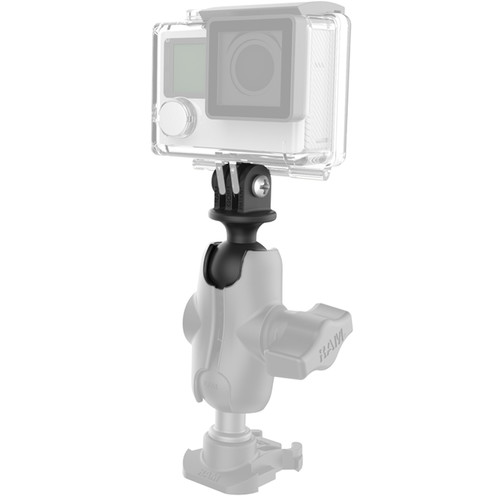 """RAM MOUNTS 1"""" Ball Adapter for GoPro Bases with Short Arm & Action Camera Adapter"""