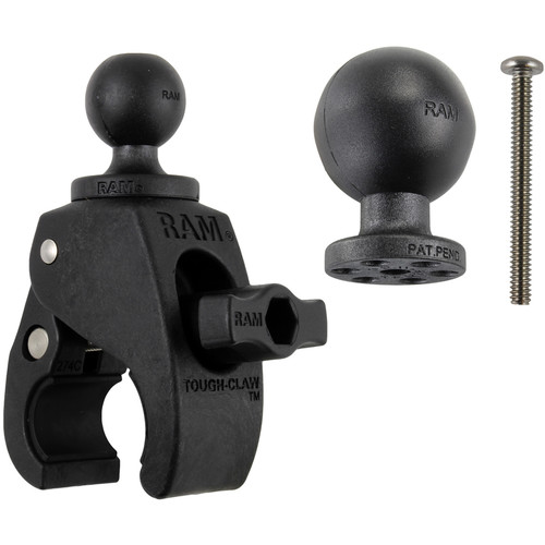 """RAM MOUNTS Small Tough-Claw with 1.5"""" & 1"""" Diameter Rubber Balls (Retail Packaging)"""