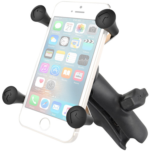 RAM MOUNTS Universal X-Grip Cell Phone Cradle with Double Socket Arm