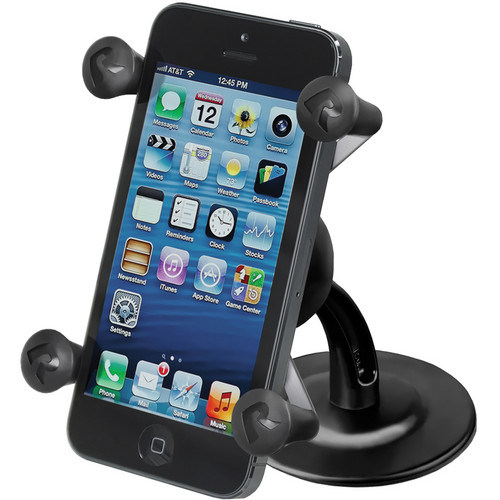RAM MOUNTS Lil' Buddy Adhesive Stick Base Mount with Universal X-Grip Cell Phone Holder