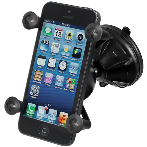 RAM MOUNTS Mighty-Buddy Snap Link Suction Cup Mount with Universal X-Grip Cellphone Holder (Bulk Packaging)